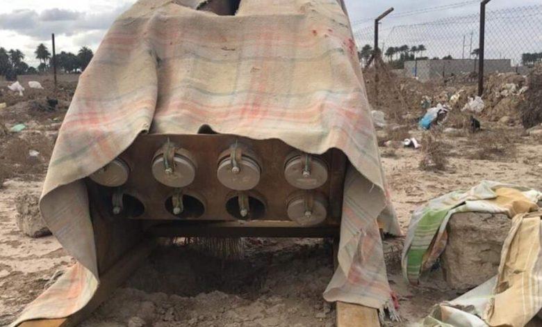 صورة انفجار منصة لإطلاق الصواريخ في جنوب بغداد