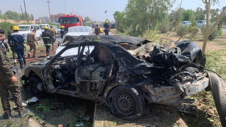 استهداف مقر شرطة محافظة #الانبار بسيارة مفخخة